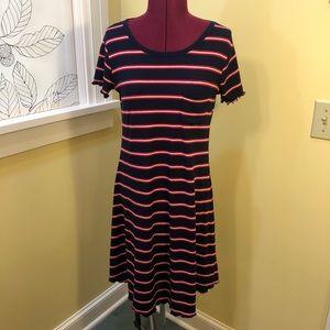 Mossimo | Navy Striped Dress